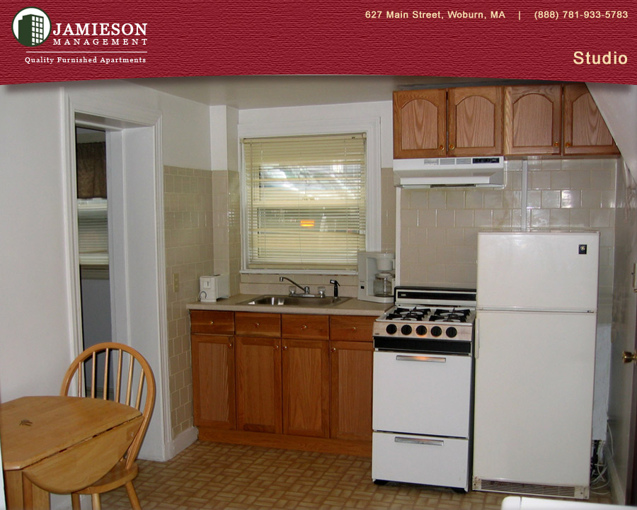 Furnished Apartments Boston | Studio Apartment | 11 Warren Ave | Woburn, MA  | Jamieson Management Company, Inc.