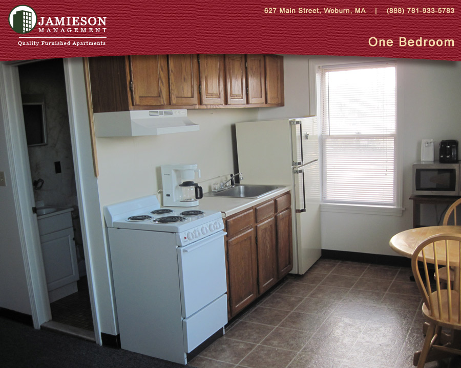 Furnished Apartments Boston One Bedroom Apartment 14 Federal Street Woburn Ma Jamieson