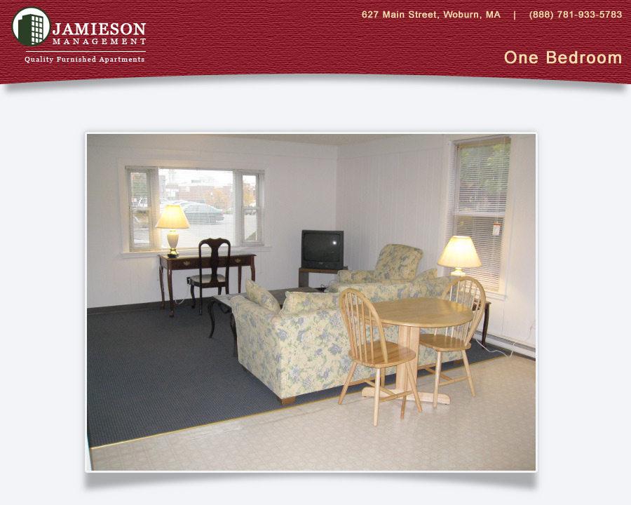 Furnished Apartments Boston | One Bedroom Apartment | 34 Davis Street |  Woburn, MA | Jamieson Management Company, Inc.