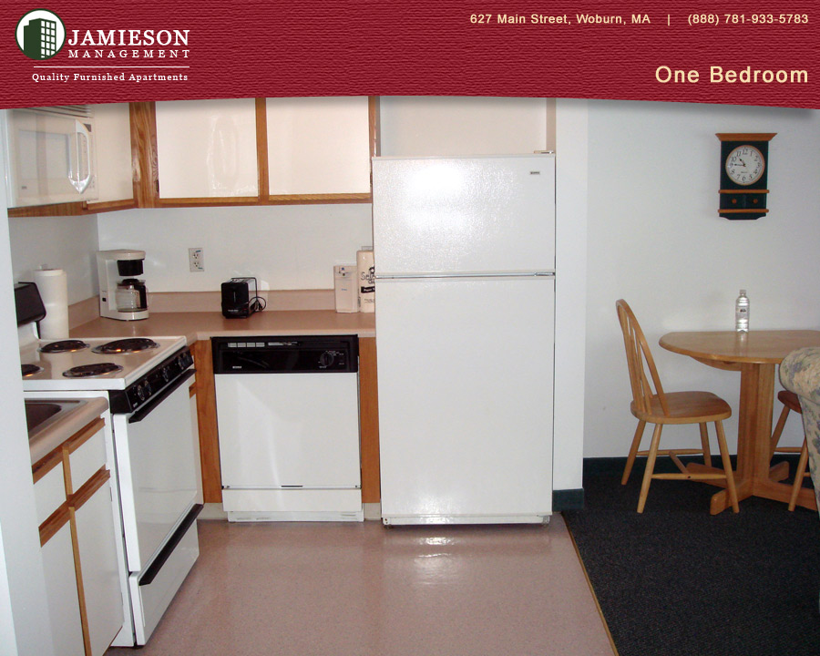 Furnished Apartments Boston   One Bedroom Apartment   44 Montvale Ave    Woburn  MA   Jamieson Management Company  Inc. Furnished Apartments Boston   One Bedroom Apartment   44 Montvale