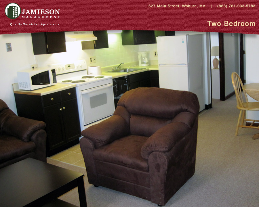 Furnished Apartments Boston | Two Bedroom Apartment | 48 54 Salem Street |  Woburn, MA | Jamieson Management Company, Inc.
