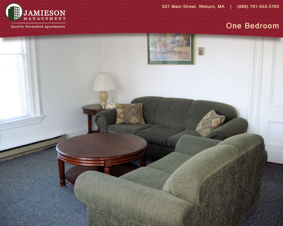 Furnished Apartments Boston | One Bedroom Apartment | 627 Main Street |  Woburn, MA | Jamieson Management Company, Inc.
