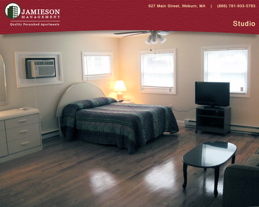 Furnished Apartments Boston | Studio Apartment | 90 Pleasant Street |  Woburn, MA | Jamieson Management Company, Inc.